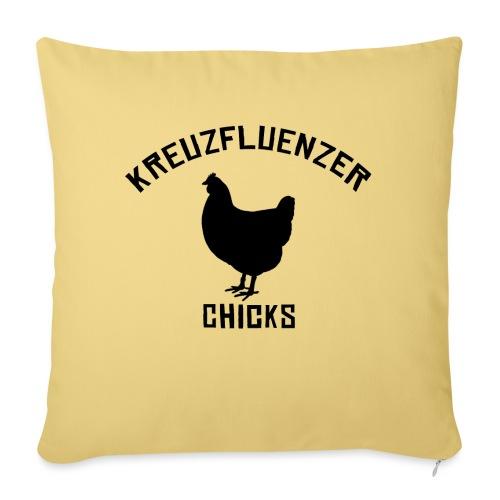 Kreuzfluenzer Chicks BLACK - Sofakissen mit Füllung 44 x 44 cm