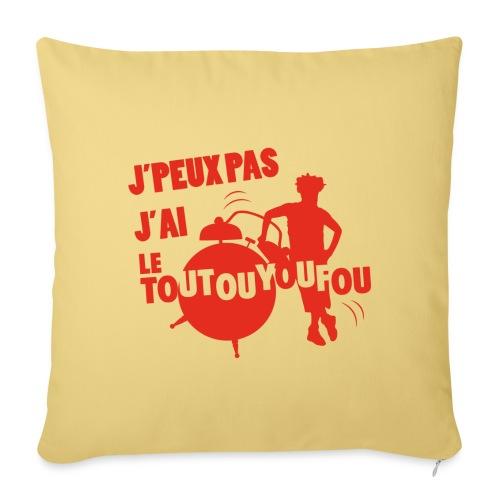 JPEUXPAS ROUGE - Coussin et housse de 45 x 45 cm