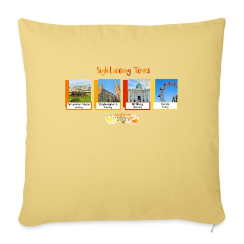 EG21 Sightseeing Tours - Sofa pillow with filling 45cm x 45cm