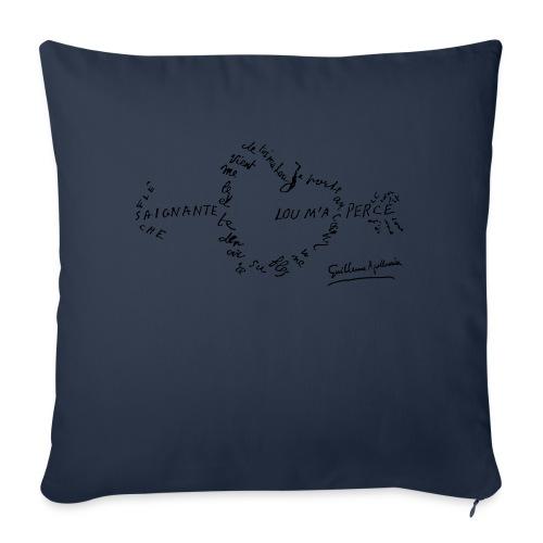 calligramme_fleche_saignante - Coussin et housse de 45 x 45 cm