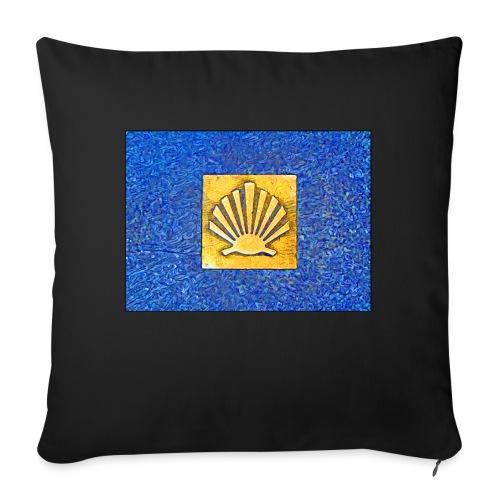 Scallop Shell Camino de Santiago - Sofa pillow with filling 45cm x 45cm