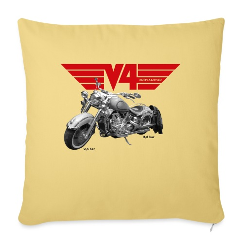 V4 Motorcycles red Wings - Sofakissen mit Füllung 44 x 44 cm