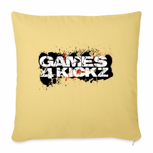 Games4Kickz Logo Splattered Background - Sofa pillow with filling 45cm x 45cm