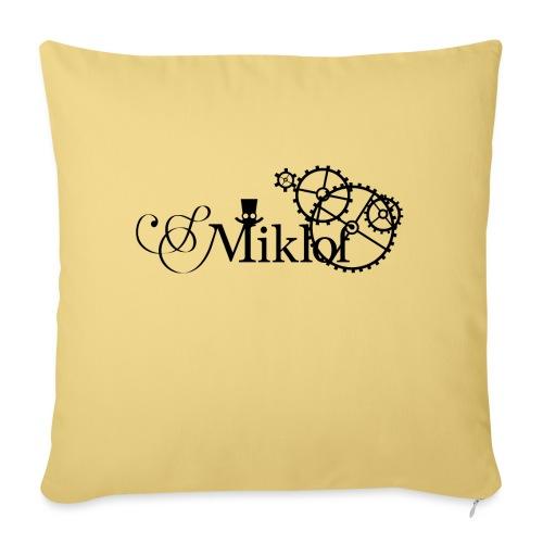 miklof logo black 3000px - Sofa pillow with filling 45cm x 45cm