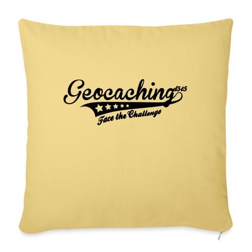 Geocaching - Face the Challenge - Sofakissen mit Füllung 44 x 44 cm