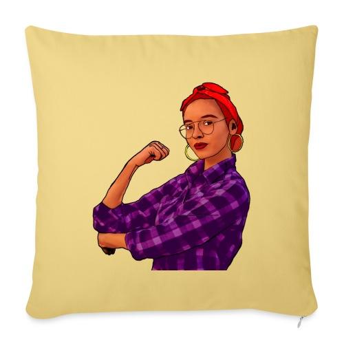 Mujer Empoderada - Cojín de sofá con relleno 44 x 44 cm