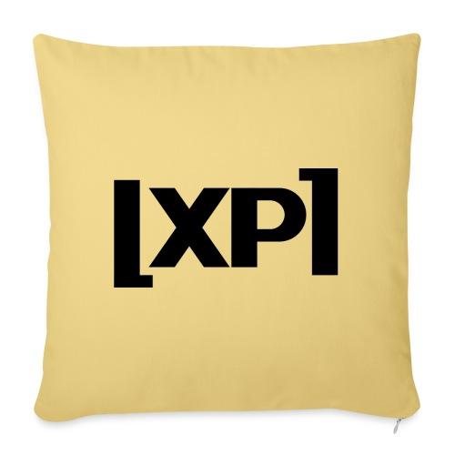 Klammelogo XP (sort) - Sofapude med fyld 44 x 44 cm