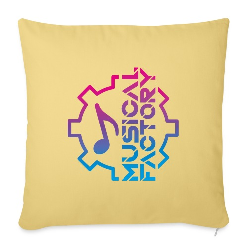 Musical Factory Marchio - Cuscino da divano 44 x 44 cm con riempimento