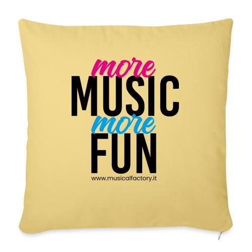 More Music More Fun - Cuscino da divano 44 x 44 cm con riempimento