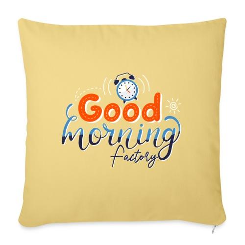 Good Morning Factory - Cuscino da divano 44 x 44 cm con riempimento