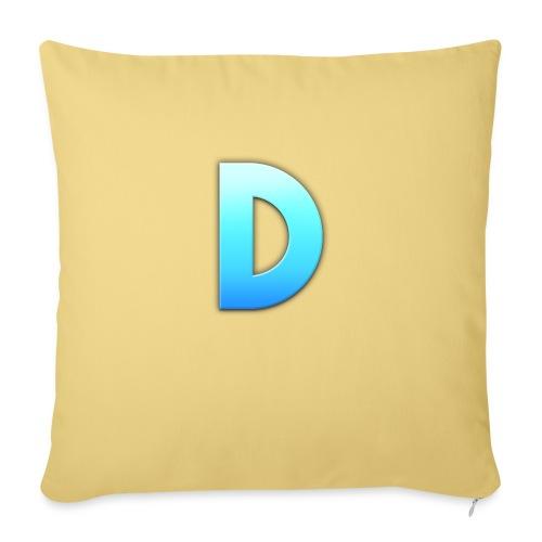 D LOGO - Cojín de sofá con relleno 44 x 44 cm
