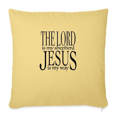 The Lord is my shepherd - Soffkudde med stoppning 44 x 44 cm