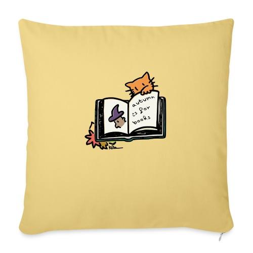 L'automne, c'est pour les livres ! - Coussin et housse de 45 x 45 cm