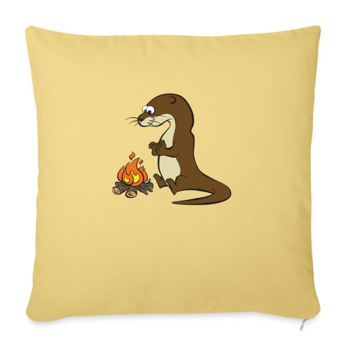 Song of the Paddle; Quentin campfire - Sofa pillow with filling 45cm x 45cm