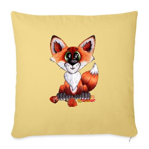 llwynogyn - a little red fox - Sohvatyynyt täytteellä 44 x 44 cm