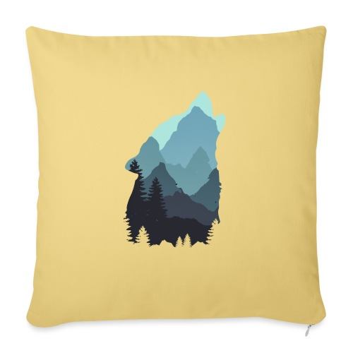 Wolf - Sofa pillow with filling 45cm x 45cm