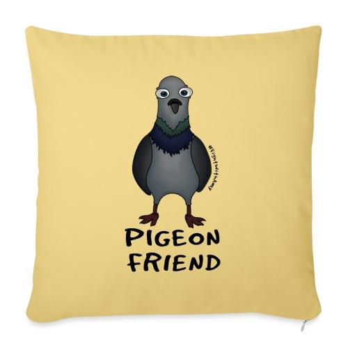 Amy's 'Pigeon Friend' design (black txt) - Sofa pillow with filling 45cm x 45cm