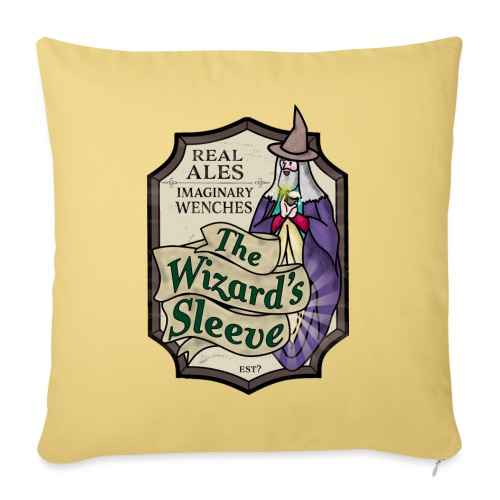 Wizard's Sleeve Pub Sign - Sofa pillow with filling 45cm x 45cm
