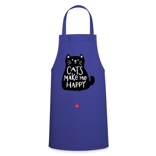 Katten maken me blij - Spreuk - Keukenschort