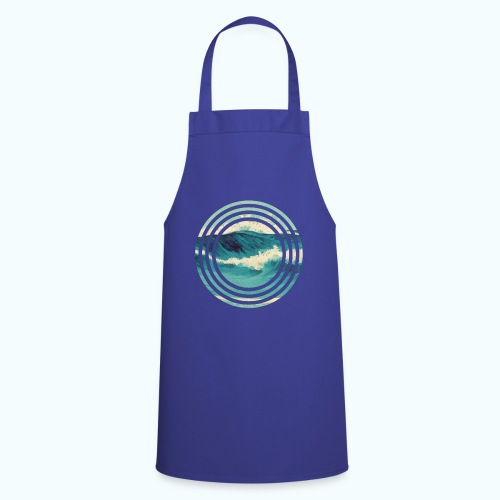 Wave vintage watercolor - Cooking Apron