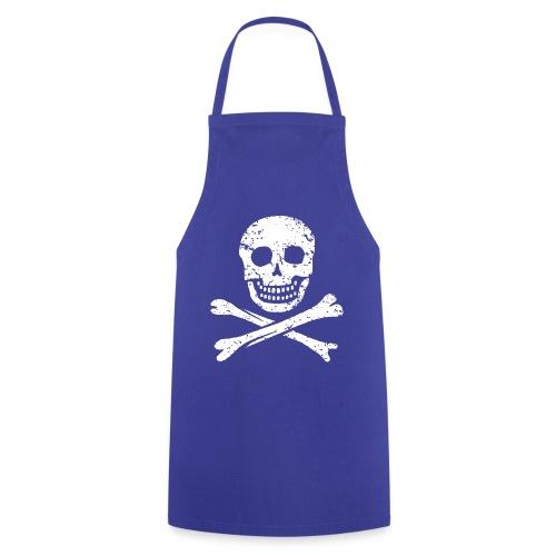Skull & Crossbones - Distressed - Cooking Apron