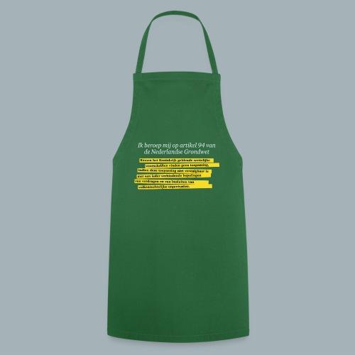 Nederlandse Grondwet T-Shirt - Artikel 94 - Keukenschort