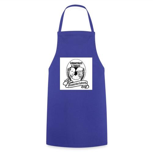 Schmankerrl und Funkerl Etikett B W33 jpg - Kochschürze