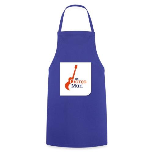 de oranje man logo groot op wit vlak - Keukenschort