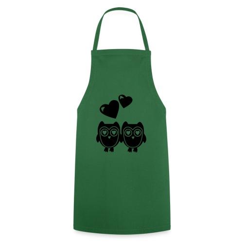 verliebte Eulen - Kochschürze