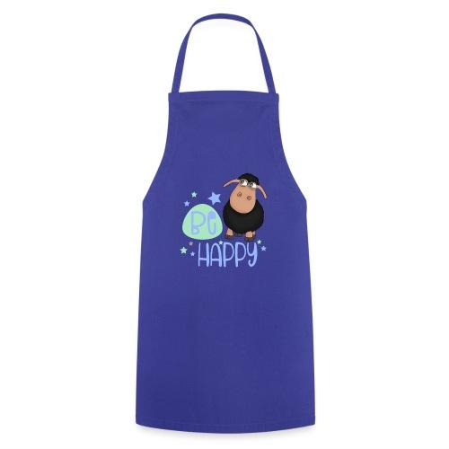 Schwarzes Schaf - Be happy Schaf - Glücksbringer - Kochschürze
