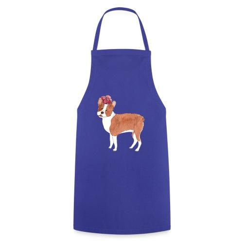 boston terrier with flower - Forklæde