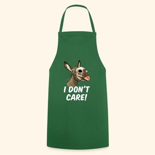 Ane I don't care! (texte blanc) - Tablier de cuisine