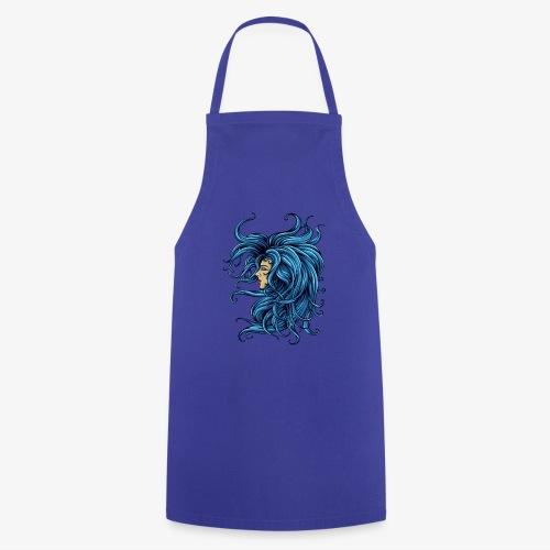Dame dans le bleu - Tablier de cuisine