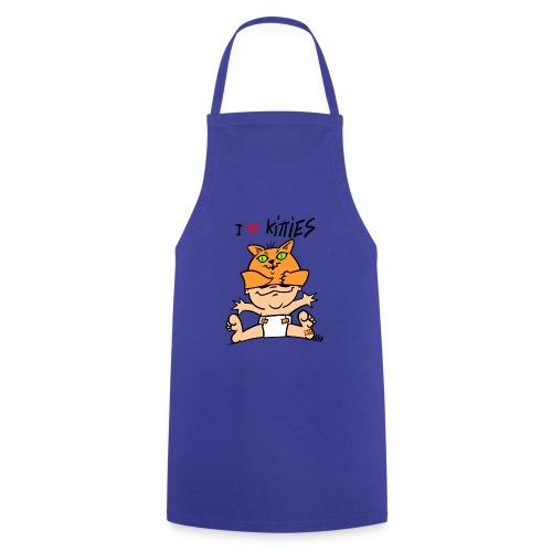 baby i love kitties color - Keukenschort