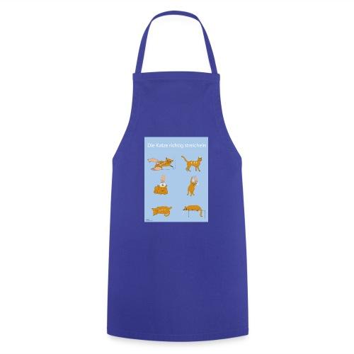 Katze richtig streicheln - Kochschürze