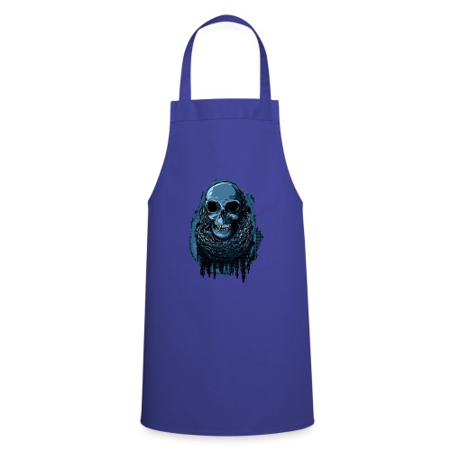 SKULL in CHAINS - deepBlue - Cooking Apron