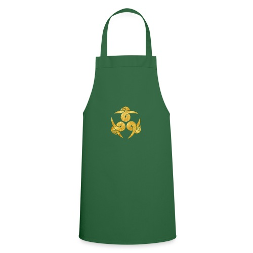 Three Geese Japanese Kamon in gold - Cooking Apron
