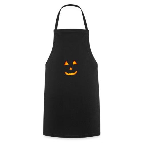 HALLOWEEN Gruselig lächelndes Kürbis Gesicht. - Kochschürze