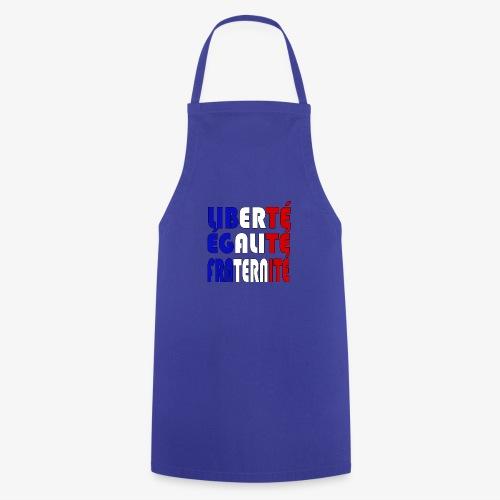 Liberté - Égalité - Fraternité - Delantal de cocina
