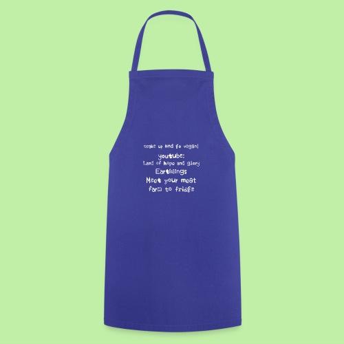 wake up go vegan - Cooking Apron