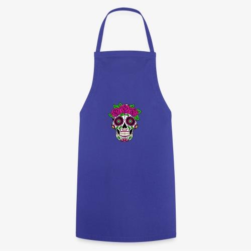 Calavera con Rosas - Delantal de cocina