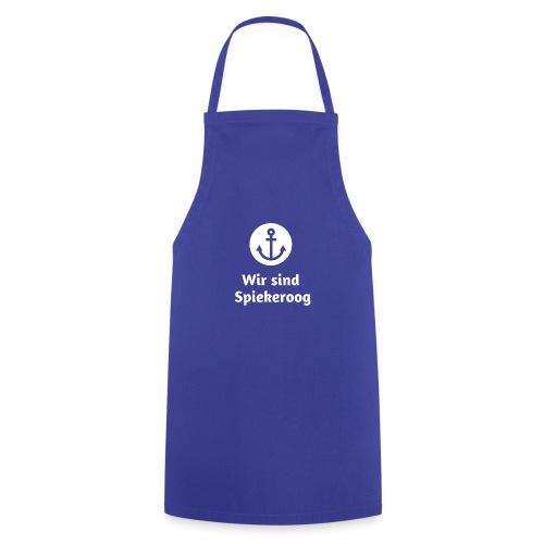 Wir sind Spiekeroog Logo weiss - Kochschürze
