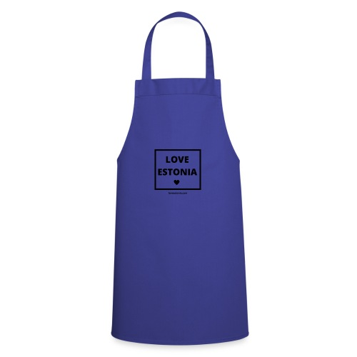 LOVE ESTONIA black - Cooking Apron