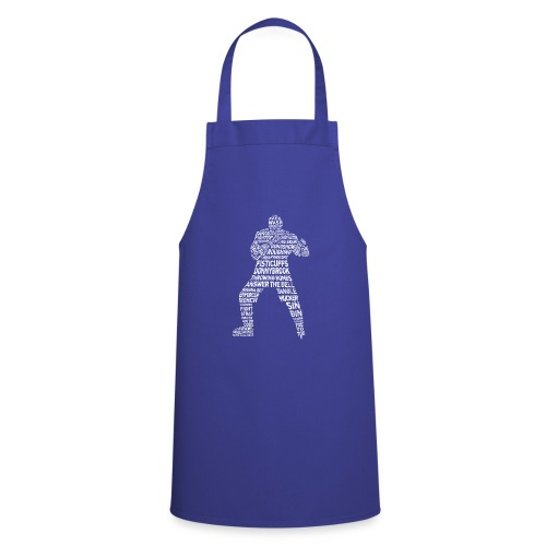Hockey Enforcer Lingo (white print) - Cooking Apron