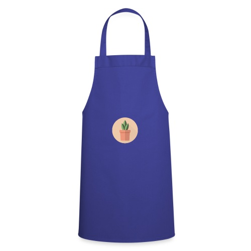 Flat 3 Leaf Potted Plant Motif - Cooking Apron