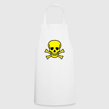 Skull, death, toxic - 2 colors - Fartuch kuchenny