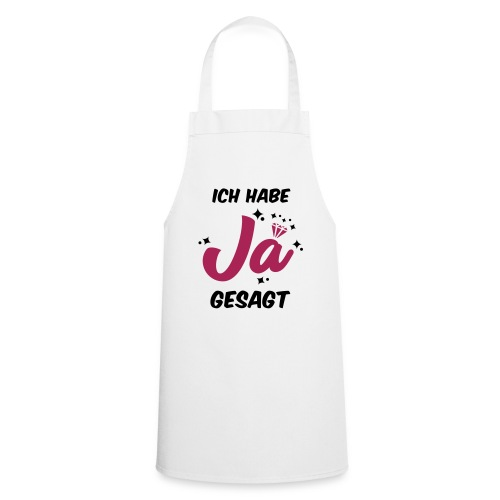 Ich habe JA gesagt - JGA T-Shirt - JGA Shirt - Kochschürze