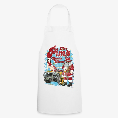 THE PIMP SANTA- Partie Weihnachtsmann Pin-Up Shirt - Kochschürze