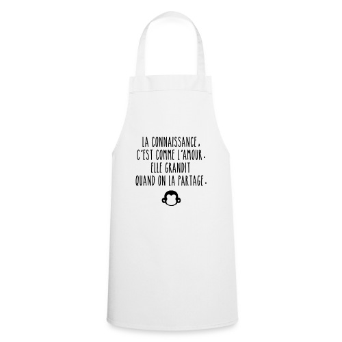 Grande citation et logo Savant Singe - Tablier de cuisine