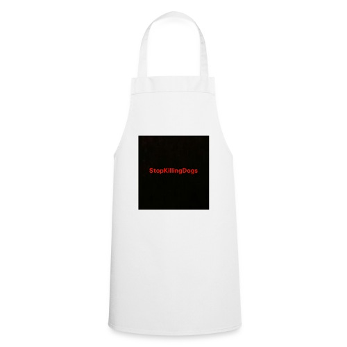 StopKillingDogs Aufschrift - Kochschürze